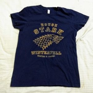 American apparel navy game of thrones t-shirt